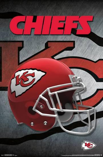 Kansas City Chiefs Logo - NFL: Kansas City Chiefs- Logo Helmet 16 Posters at AllPosters.com