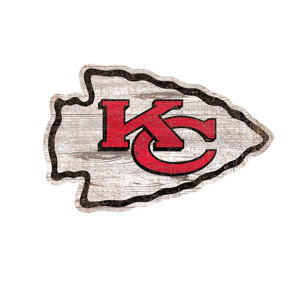 Kansas City Chiefs Logo - Adventure Furniture NFL Indoor Kansas City Chiefs Distressed Logo ...