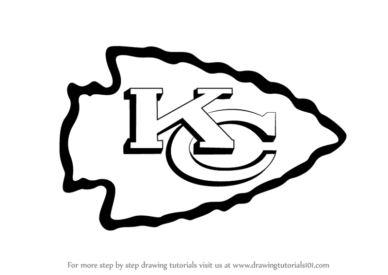 Kansas City Chiefs Logo - Learn How to Draw Kansas City Chiefs Logo (NFL) Step by Step ...