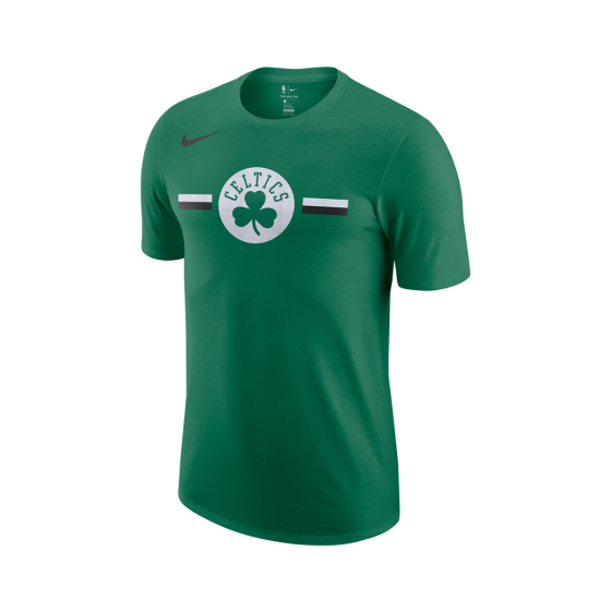 Boston Celtics Logo - Nike Dry - Boston Celtics Logo Strikethrough Tee-10