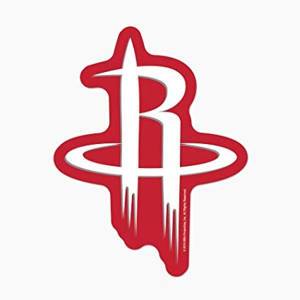Houston Rockets Logo - Amazon.com : NBA Houston Rockets Logo on the Go Go : Sports & Outdoors