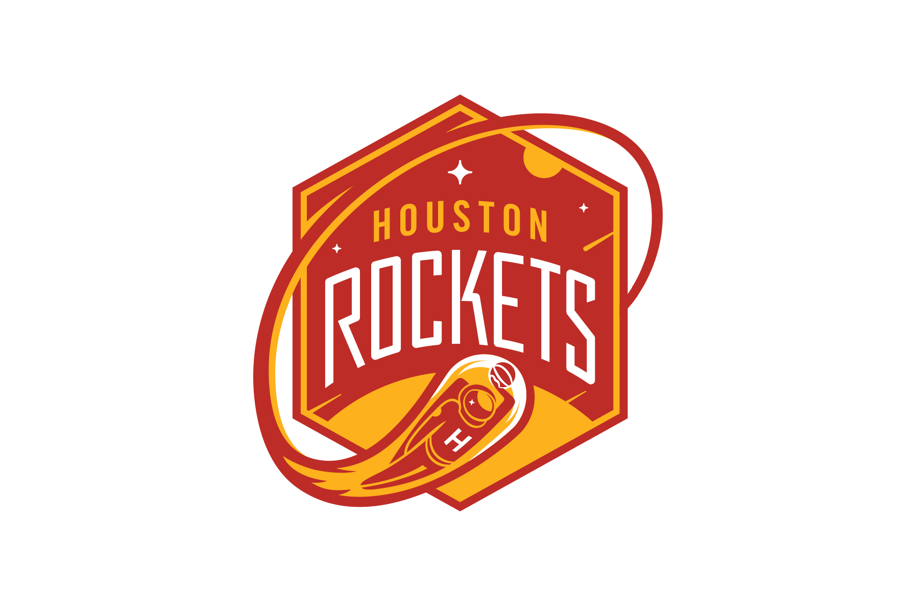 Houston Rockets Logo - Michael Weinstein NBA Logo Redesigns: Houston Rockets