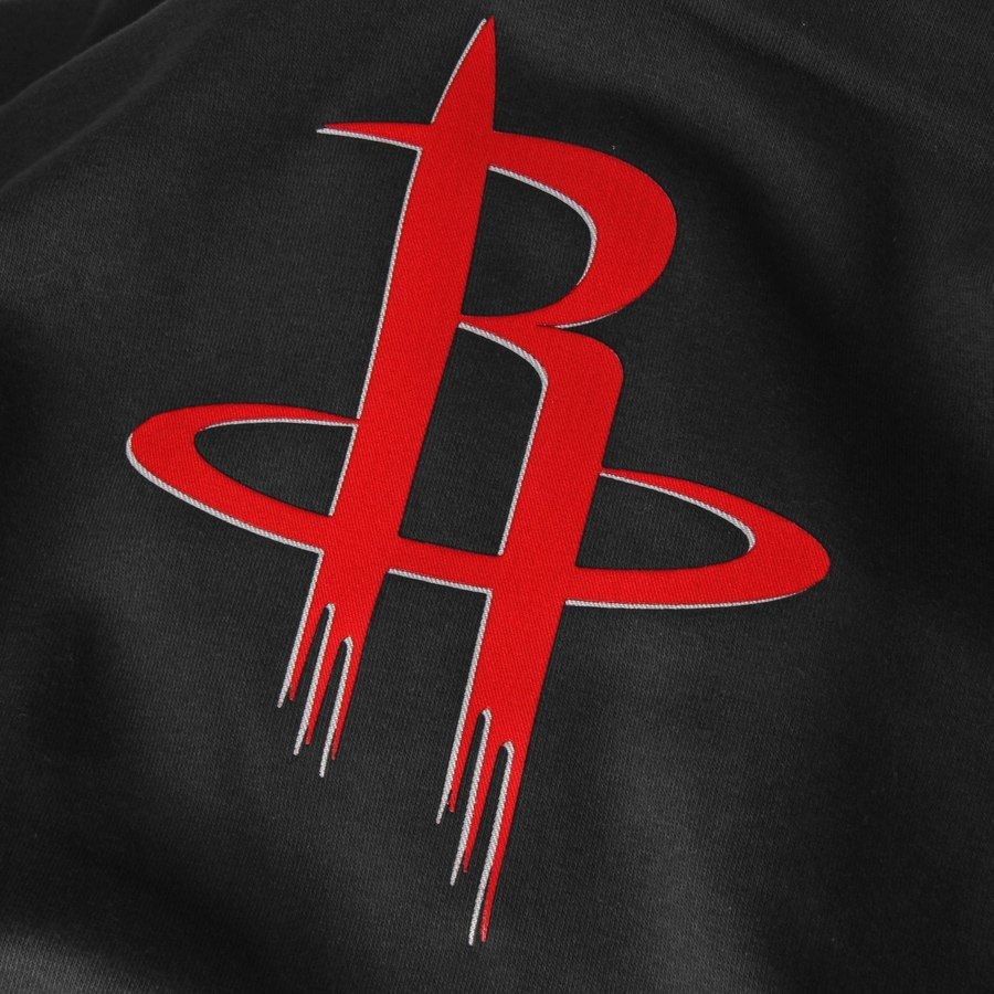 Houston Rockets Logo - Men's Houston Rockets Majestic Black Current Logo Tech Patch ...