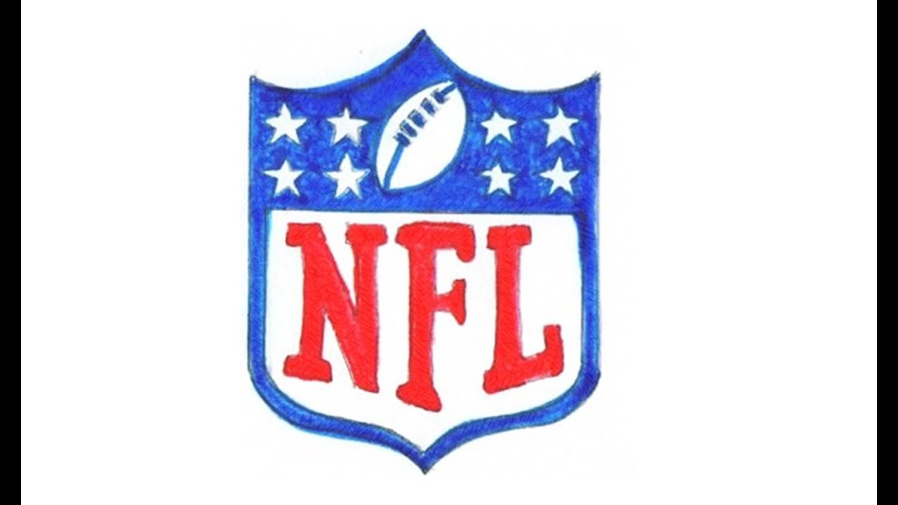 NFL Logo - How to Draw the NFL Logo (symbol, emblem) - YouTube