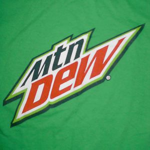 Mountain Dew Logo - Mountain Dew T-Shirt Small Modern Logo Soda Pop Advertising PepsiCo ...