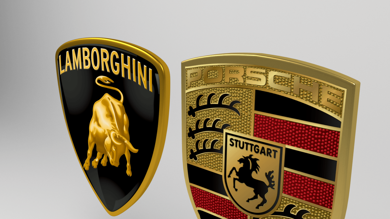 Porsche Logo - Lamborghini Porsche logo 3D Model in Parts of auto 3DExport