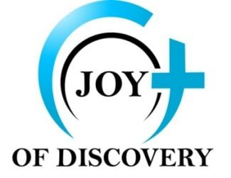 Black and White with Blue Circle Logo - The Music of Joy