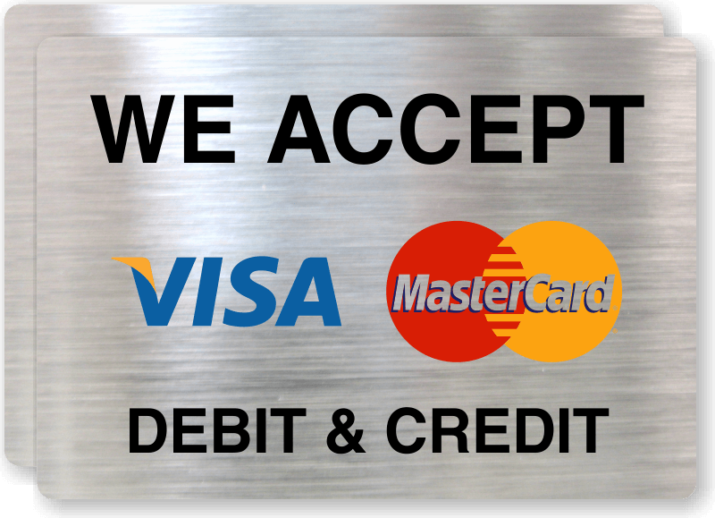 photo regarding We Accept Credit Cards Printable Sign referred to as Printable Visa MasterCard Check out Brand - LogoDix