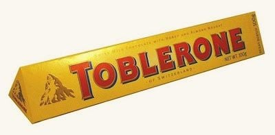 Toblerone Logo - A bear hides in the Toblerone chocolate bar logo | Deceptology