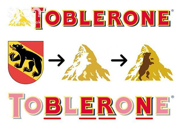 Toblerone Logo - Secret Messages Hidden In Famous Logos: Toblerone Follow @signsbook ...