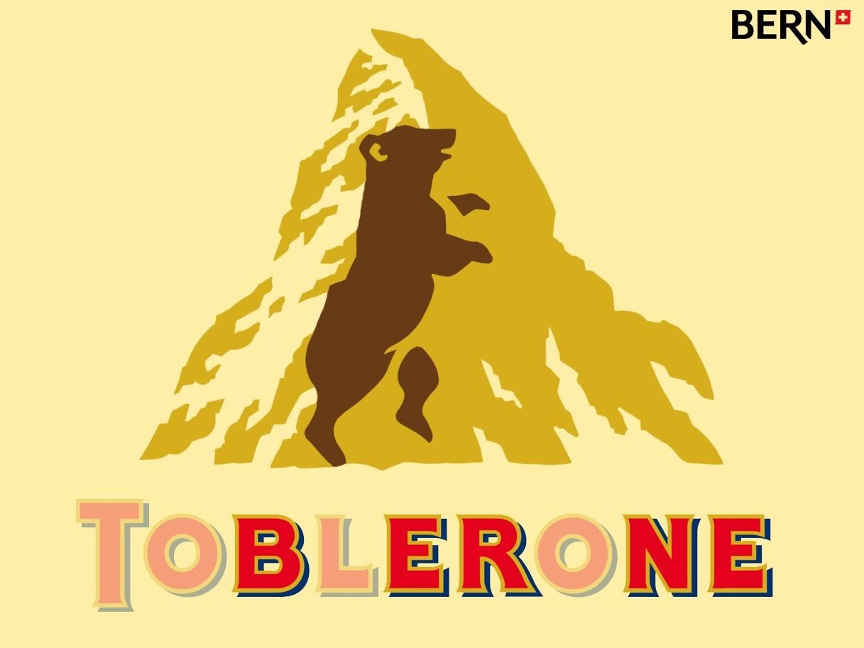 Toblerone Logo - There is a hidden bear in the Toblerone logo. : mildlyinteresting