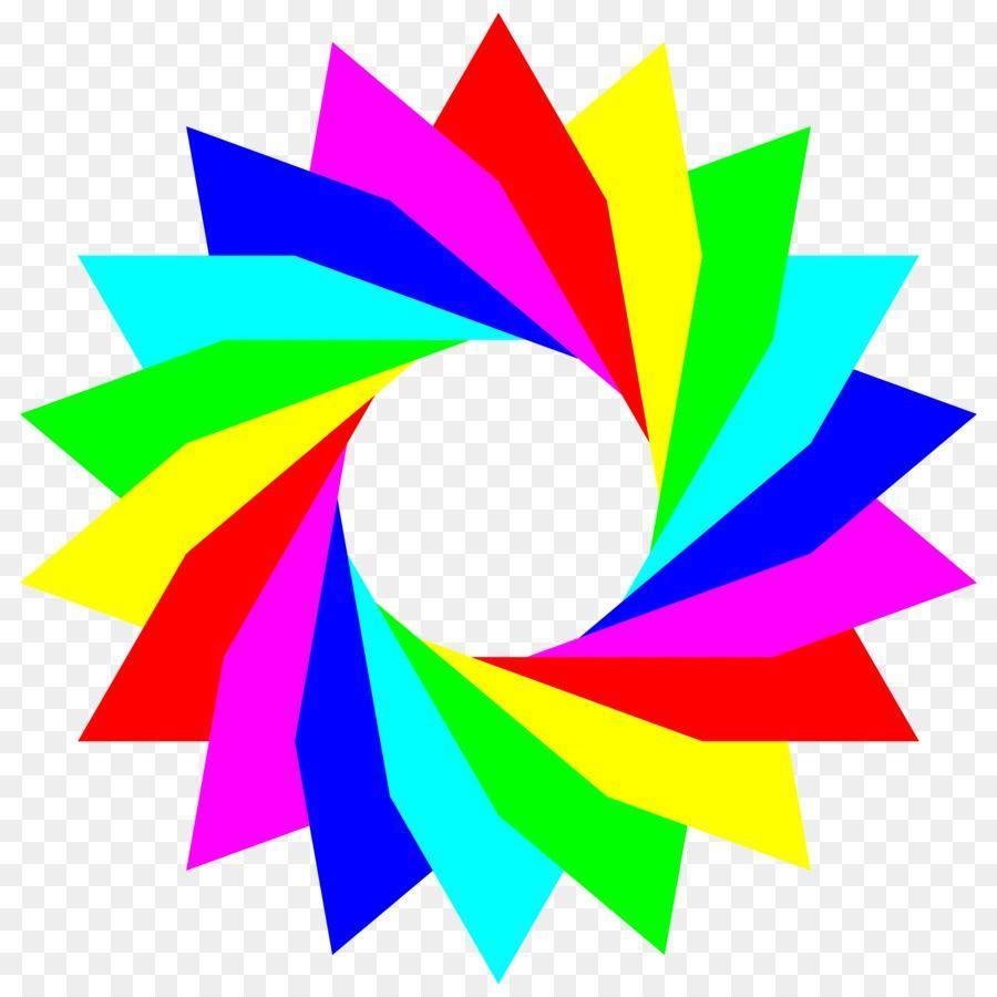 Blue Circlelogo: Rainbow Colored Circle Logo