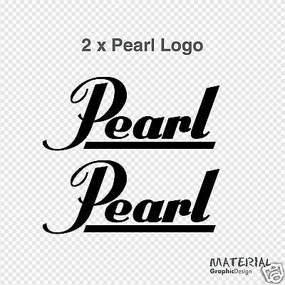 Pearl Drums Logo Car Tag Diamond Etched on Aluminum License Plate