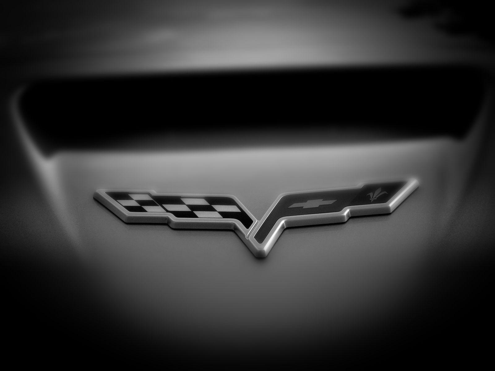 White Corvette Logo Logodix