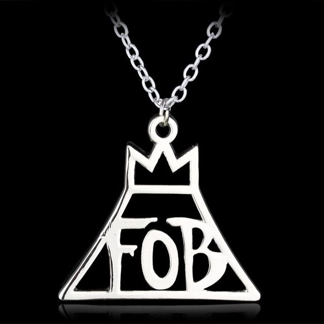 FOB Fall Out Boy Logo - 10PCS/Lot Jewelry Fashion Band Fall Out Boy FOB Logo Metal Pendant ...