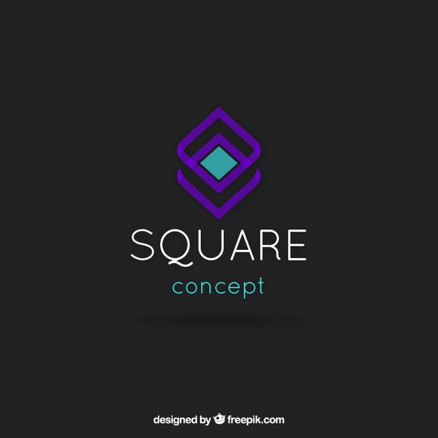 Square Logo - Abstract square logo template Vector | Free Download