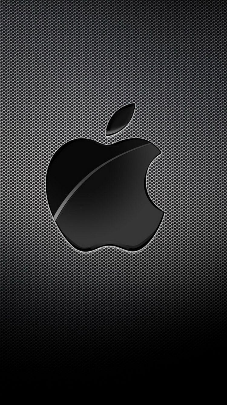 On Black Background Iphone Logo Logodix