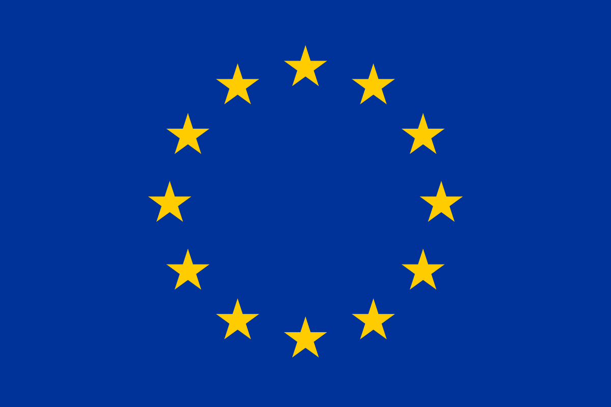 Dark Blue Circle Logo - Flag of Europe