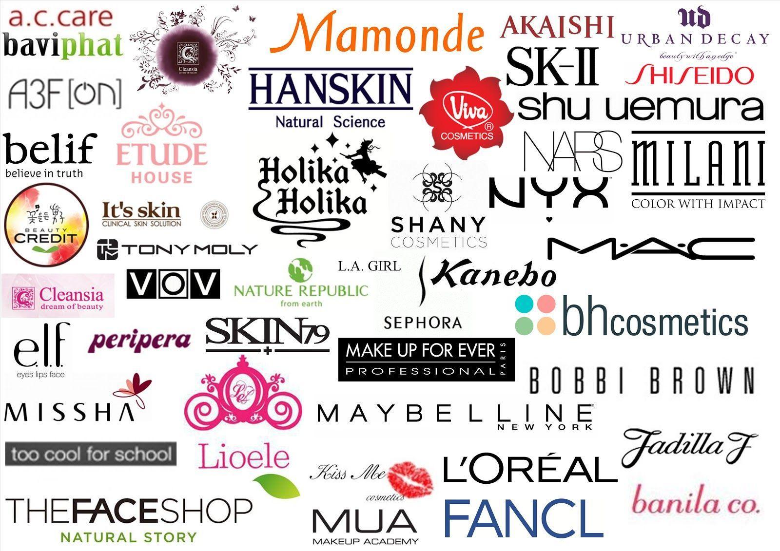 Makeup Brand Logos | Saubhaya Makeup
