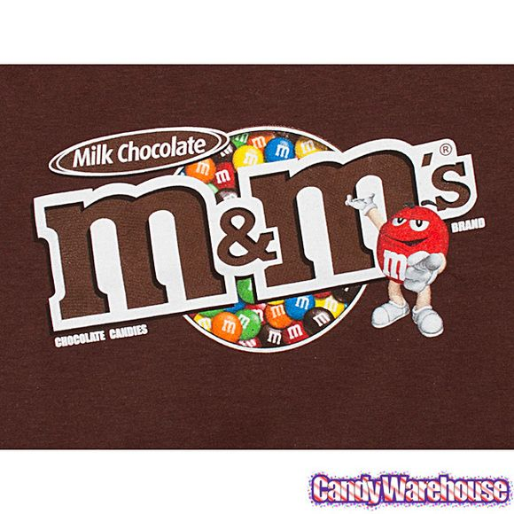 M&M's Logo - M&M's Candy Distressed Logo T-Shirts - Milk Chocolate - Youth ...