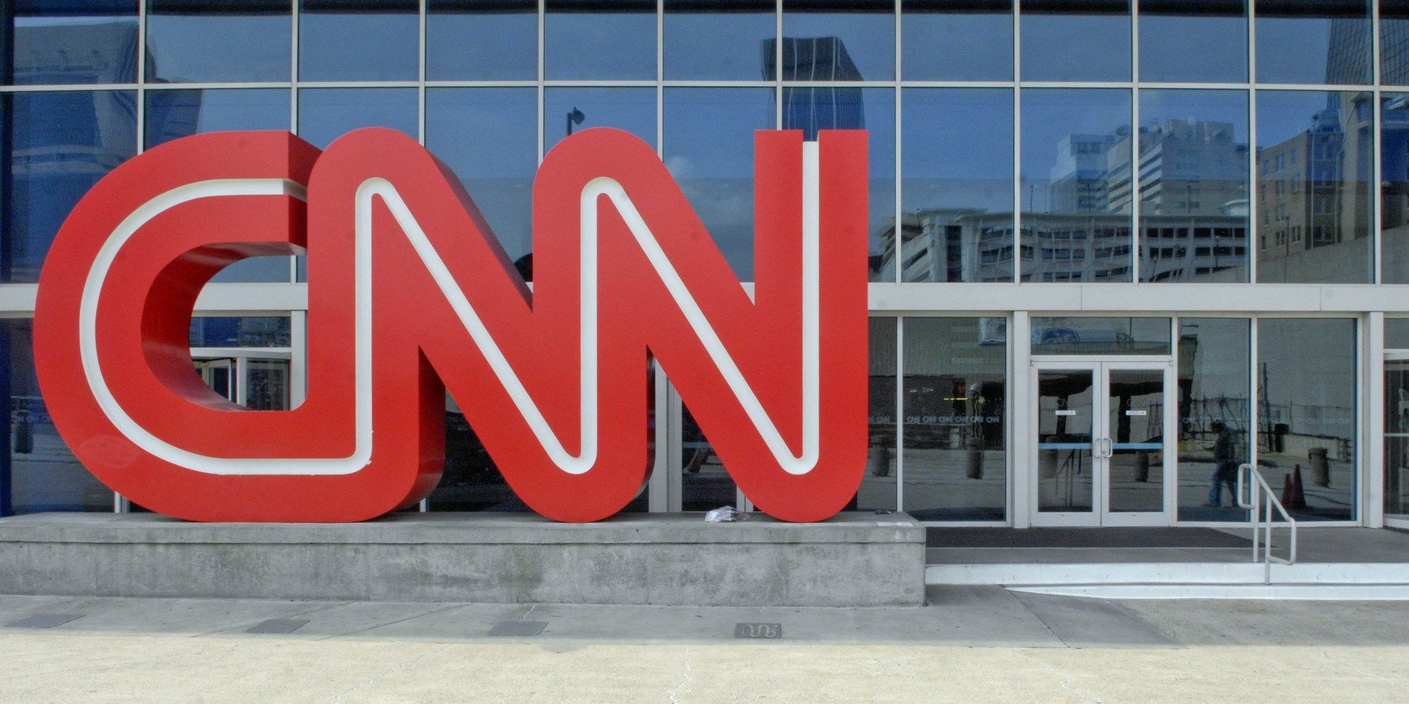 CNN Logo - A CNN logo stands outside the CNN Center on Tuesday April 3, - The ...