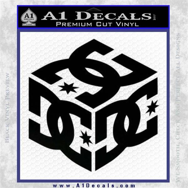 DC Logo - DC Shoes Logo 3D Decal Sticker » A1 Decals