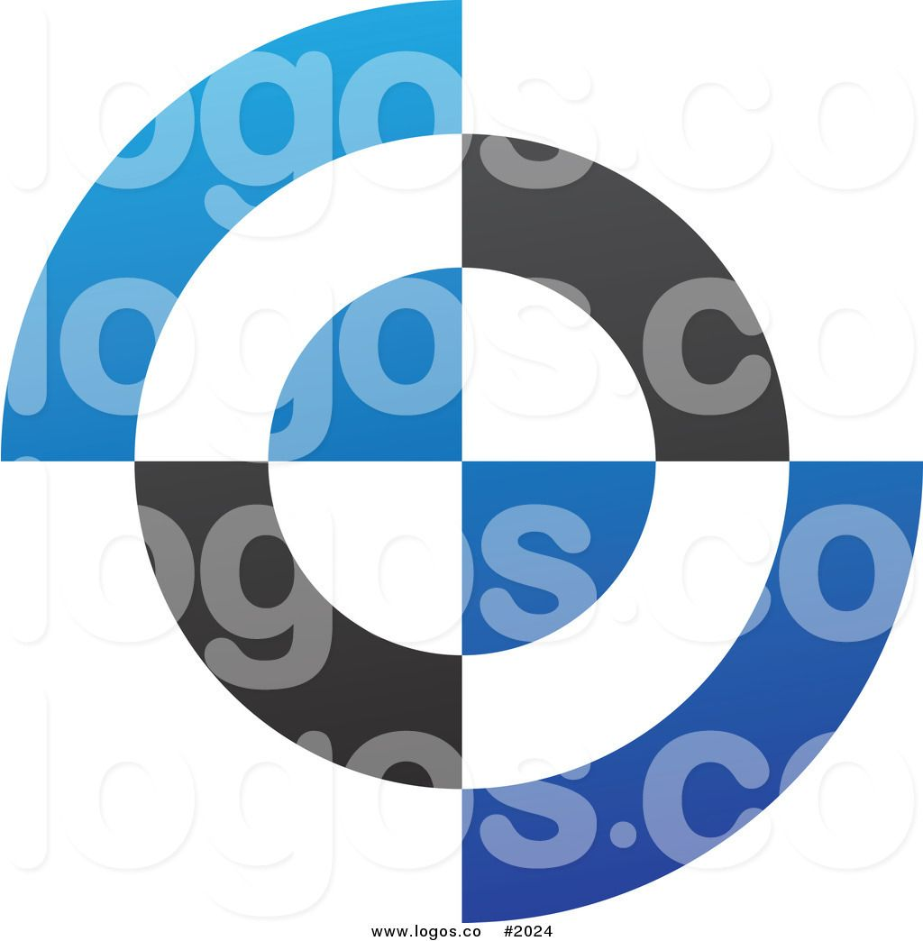 Black and White with Blue Circle Logo - Blue and white circle Logos