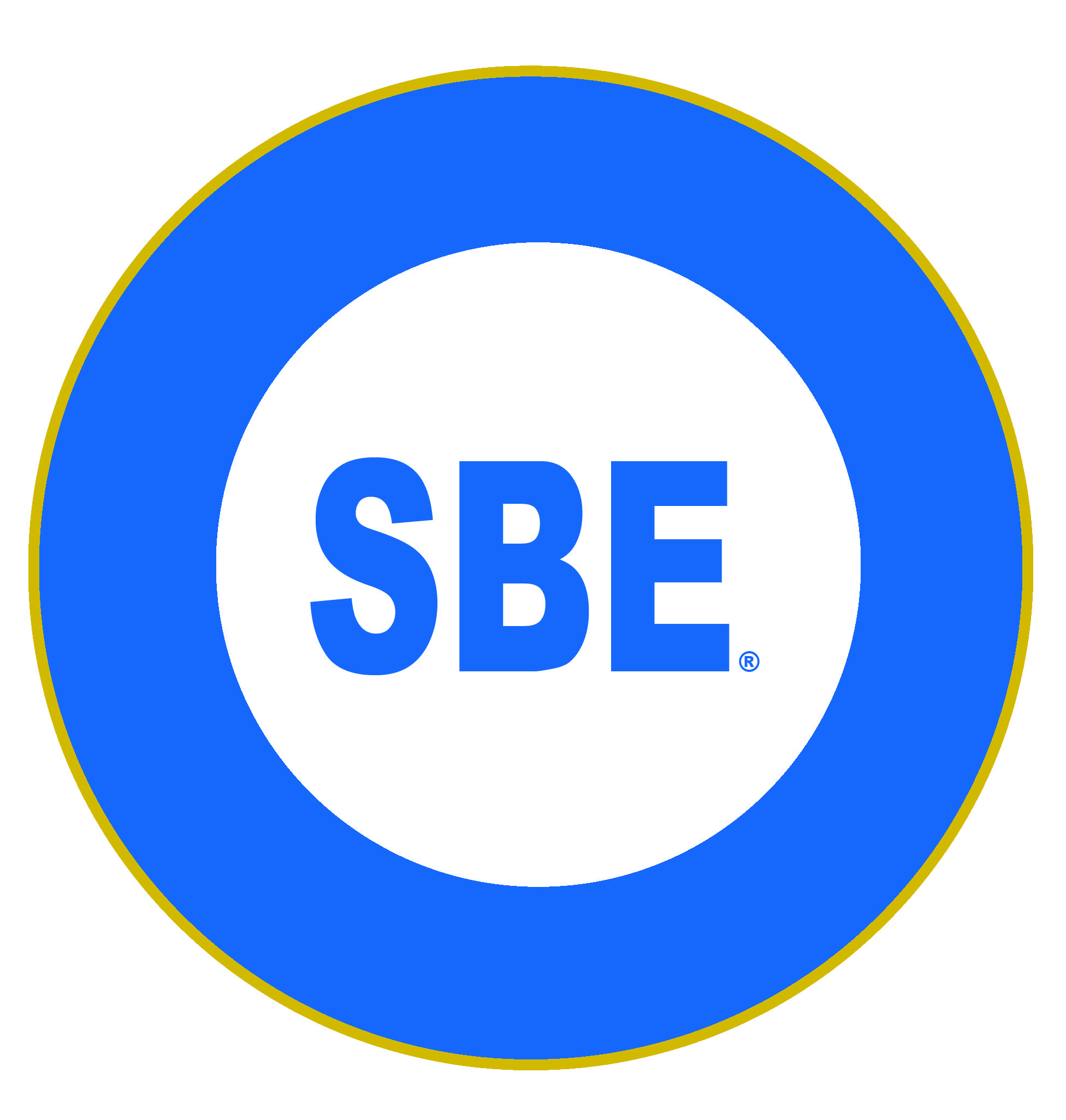 Black and White with Blue Circle Logo - Society of Broadcast Engineers