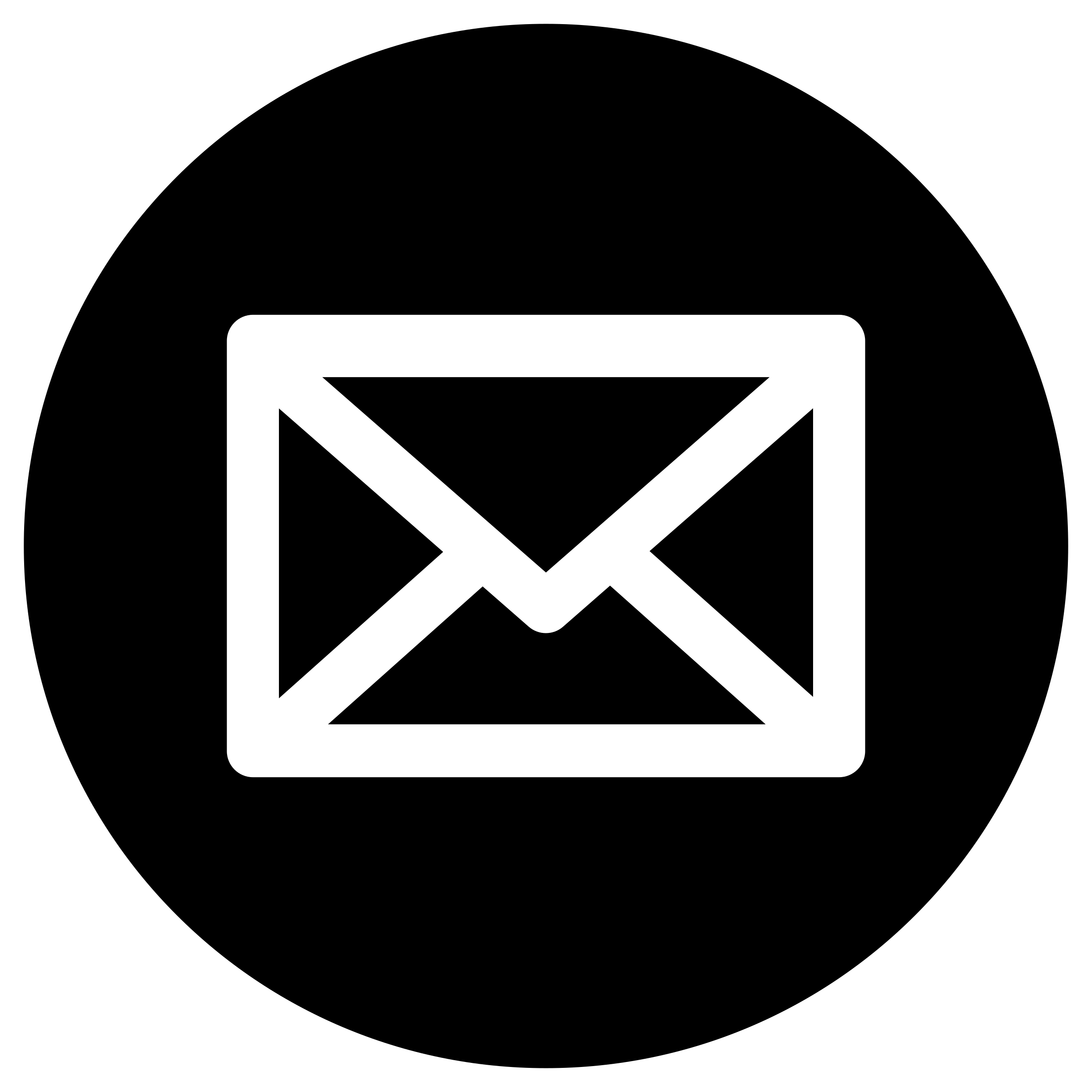 Black and White with Blue Circle Logo - Free Mail Icon Circle 96401 | Download Mail Icon Circle - 96401