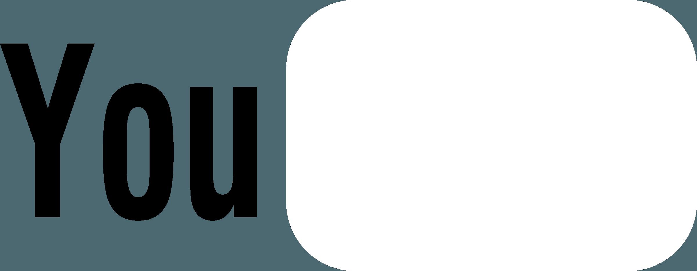 White YouTube Logo - LogoDix