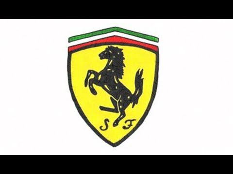 Ferrari Logo - How to Draw the Ferrari Logo (symbol, emblem) - YouTube
