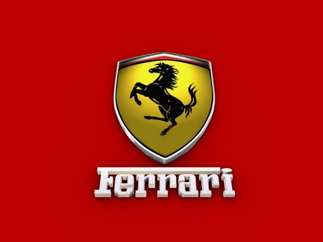 Ferrari Logo - Ferrari Logo 3D Model in Parts of auto 3DExport