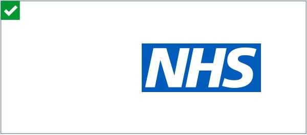 Blue and White Brand Logo - NHS Identity Guidelines | NHS logo