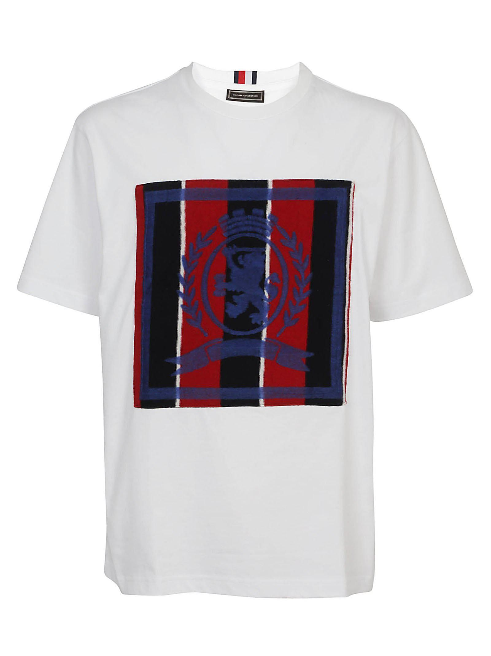 Blue and White Brand Logo - Tommy Hilfiger Brand Logo T-shirt in White for Men - Lyst