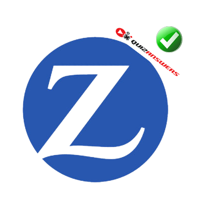 Blue and White Brand Logo - Z in a circle Logos
