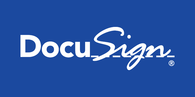 Blue and White Brand Logo - Brand Asset Guidelines | DocuSign
