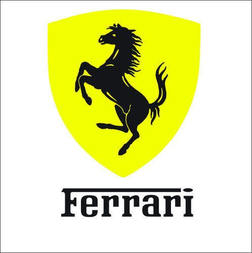 Ferrari Logo - Ferrari Vinyl Sticker Decal Logo at Rs 100 /piece | विनाइल ...