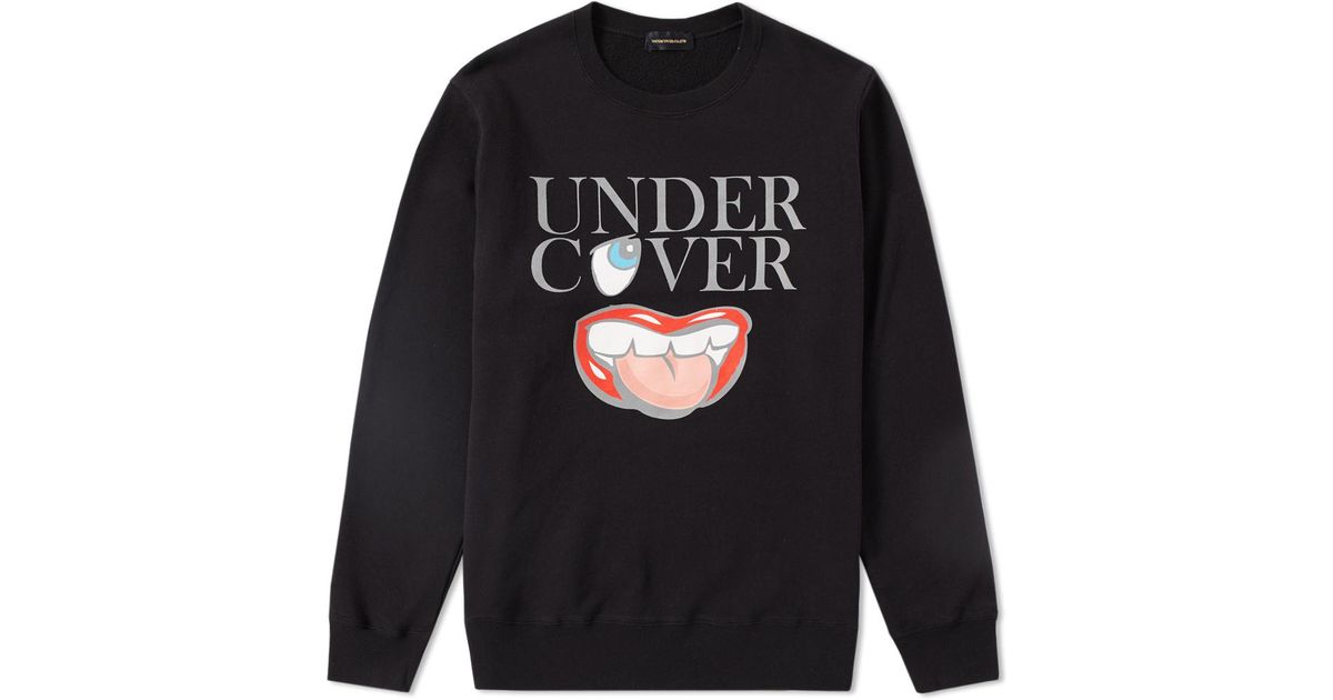 e059cd47 Undercover Clothing Logo - Undercover Mouth Logo Crew Sweat in Black for Men  - Lyst