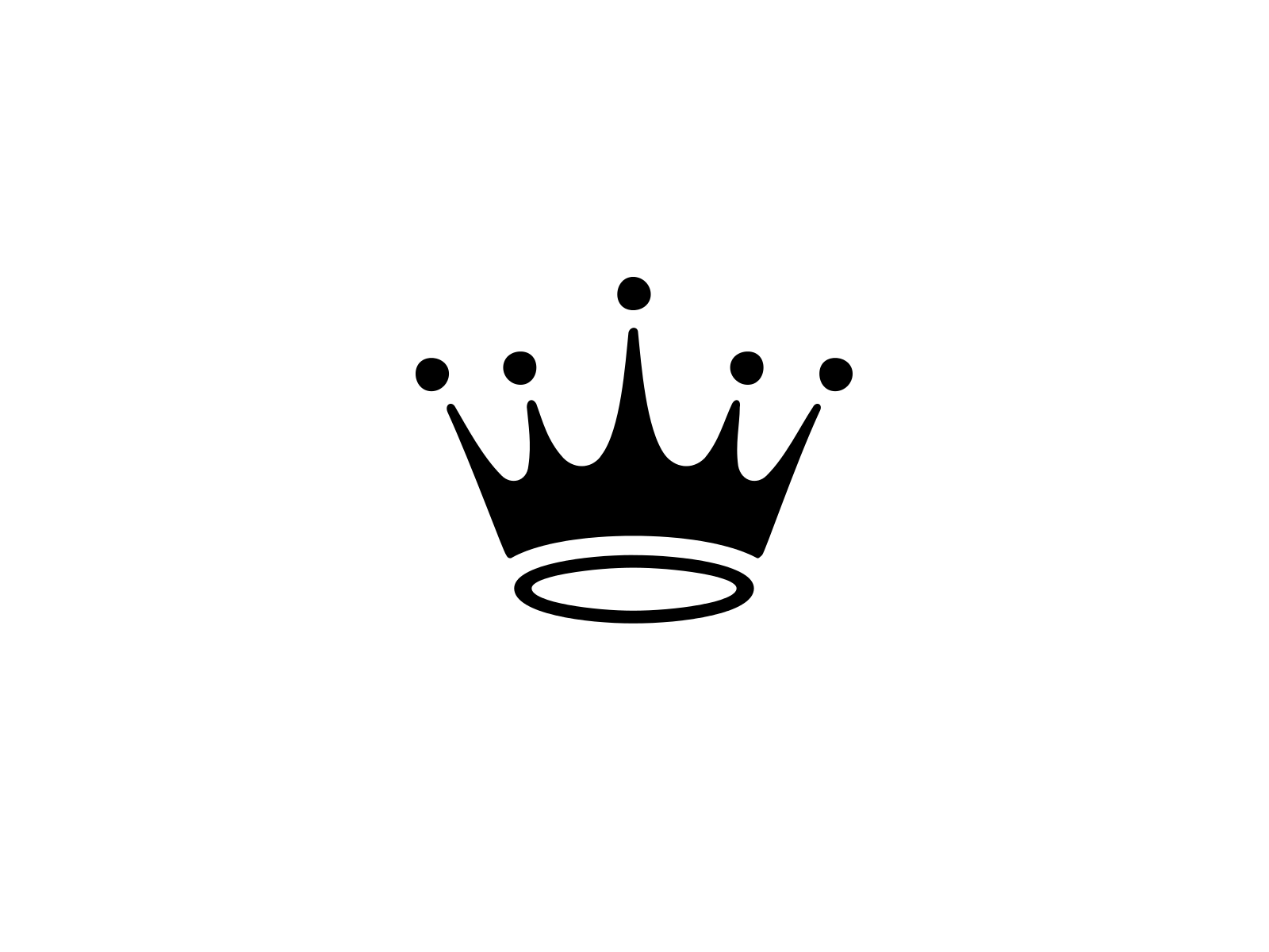 Black And White Crown Logo Logodix