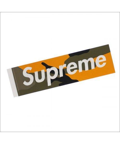 f88442a4b79 Orange Camo Supreme Logo - SUPREME   Brooklyn Camo Box Logo Sticker YELLOW  CAMO