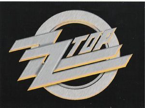 ZZ Top Logo - ZZ TOP logo VINYL STICKER official ex-tour merchandise POSTCARD SIZE ...