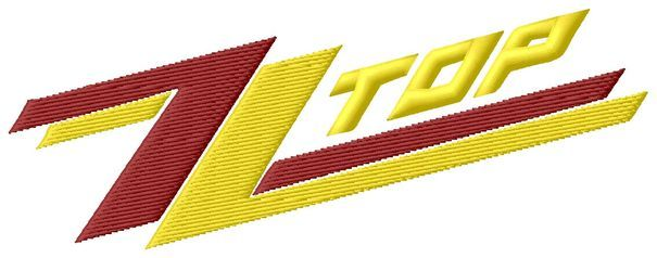 ZZ Top Logo - ZZ Top Logo Embroidery Design