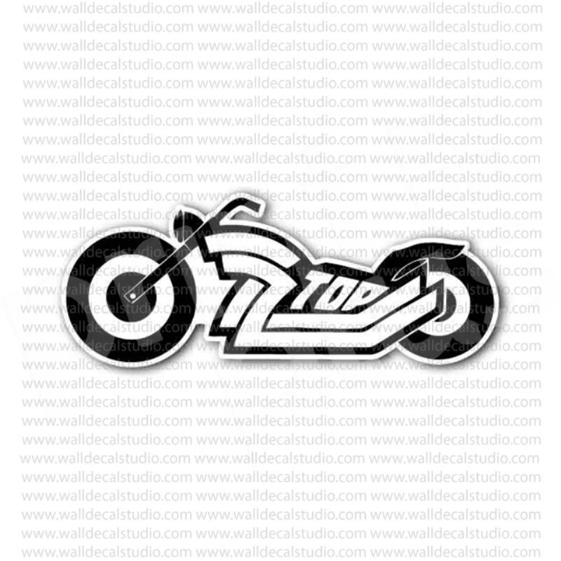 ZZ Top Logo - From $4.50 Buy ZZ Top Blues Rock Band Sticker at Print Plus in ...