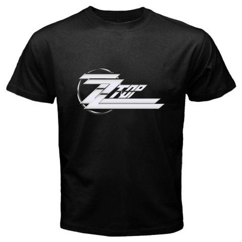 ZZ Top Logo - New ZZ TOP Logo Classic Retro Rock Band Men'S Black T Shirt Size S ...
