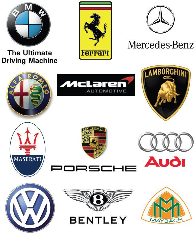 Exotic Car Logo - Luxury Car Logos #branding | Branding Identity | Luxury Cars, Cars ...