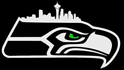 Black and Green Eye Logo - Amazon.com: Hawk Logo with Seattle Skyline and Green Eye - NFL ...