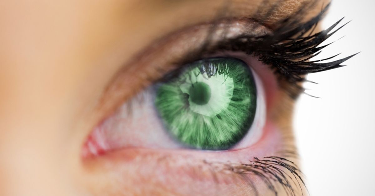 White and Green Eye Logo - Green Eyes: The Most Attractive Eye Color?