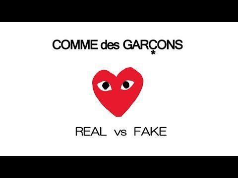 09303e568 CDG Play Logo - COMME des GARÇONS Play - Real vs Fake - YouTube