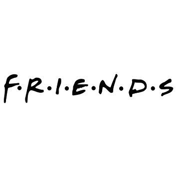 Friends Logo - Amazon.com: Friends Logo Vinyl Decal Sticker 8x1.5 inch (Gloss Black ...