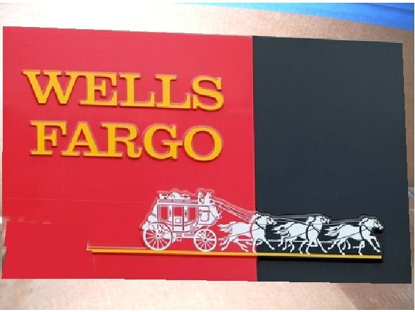 Wells Fargo Logo - Wall plaques for clubs, societies, corporations and sports teams